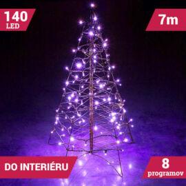 LED svetelné reťaze 140LED zelený kábel fialová farba