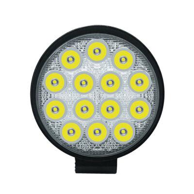Prídavné LED svetlo na pracovné stroje offroad autá 42W IP67 12-36V okrúhle