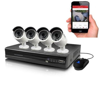 CCTV systém s 4-kanálovým HD nahrávaním
