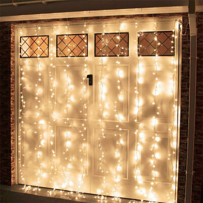 LED Záves 2x2m teplý biely