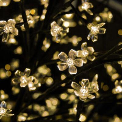 LED dekoračný strom 130 cm TEPLÝ BIELY