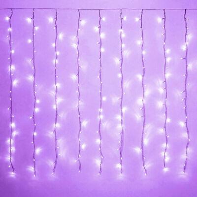 LED Záves 2x1,5m fialový