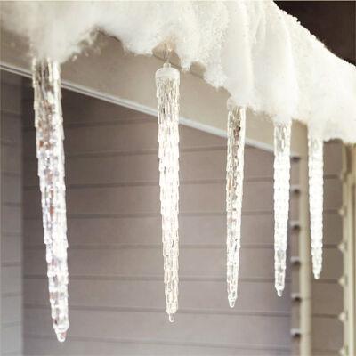 LED cencúle efekt topiaceho sa ľadu 50cm teplé biele extra realistické