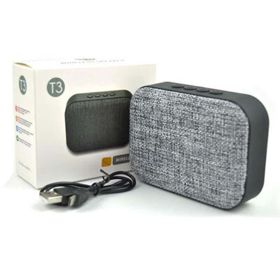 T3 Bluetooth mini MP3 prehrávač USB FM rádio TF
