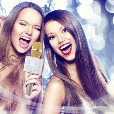 Bluetooth karaoke mikrofón so stereo reproduktorom bezdrôtový
