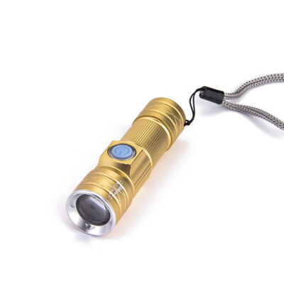 LED teleskopická baterka výkonná nasaviteľná