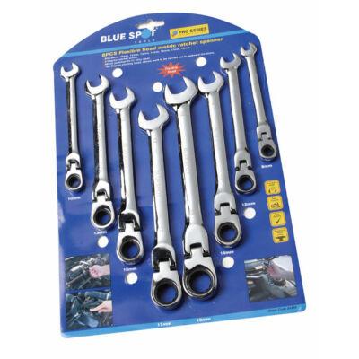 Sada očko-vidlicových kĺbových račnových kľúčov 8 ks