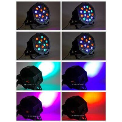 LED disco osvetlenie svetelná technika 18W