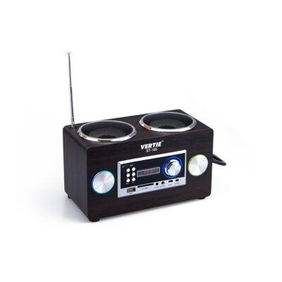 FM rádio a reproduktor micro SD USB retro dizajn ST-185