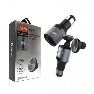 Ldnio CM20 2v1 Mono Bluetooth Headset slúchadlá a USB nabíjačka do auta