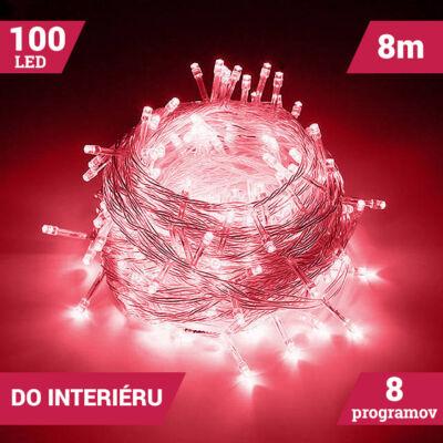 LED svetelné reťaze 100LED červené