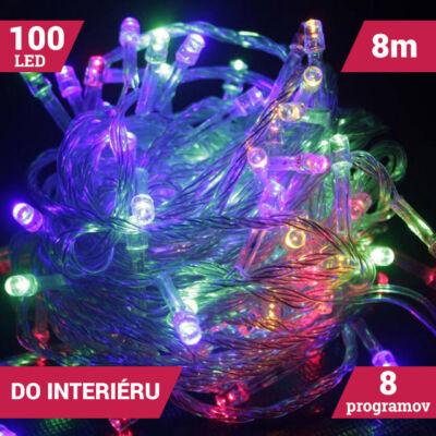 LED svetelné reťaze 100LED viacfarebné