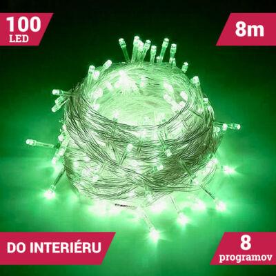 LED svetelné reťaze 100LED zelené