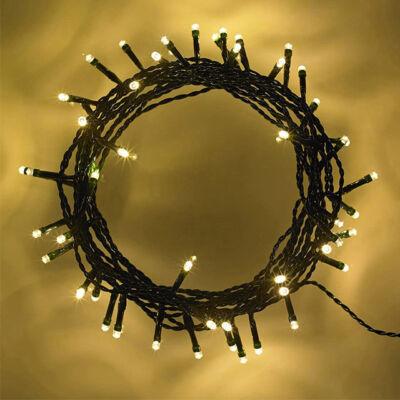 50LED vianočná reťaz na baterku TEPLÁ BIELA
