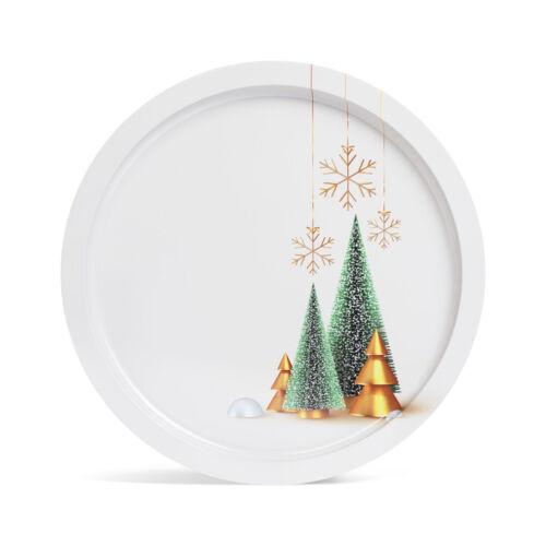 Vianočná tácka kov 31 cm 55932M