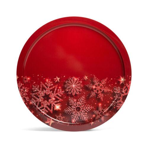 Vianočná tácka kov 31 cm 55932N