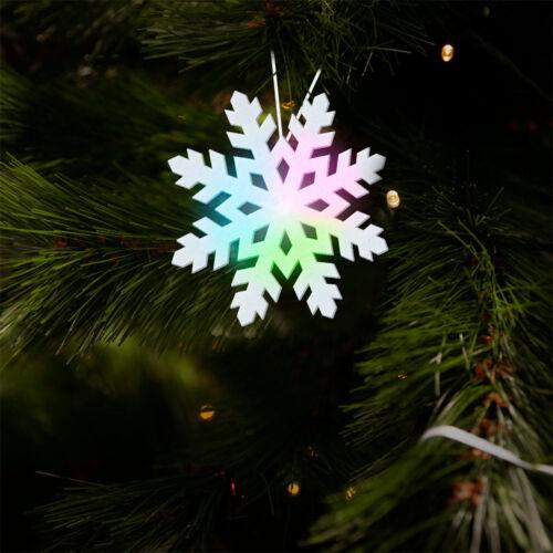 Svietiaca snehová vločka RGB LED 10cm 58063