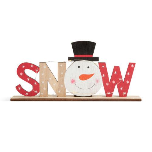 Vianočná LED ozdoba na policu snehuliak 24x4x11cm 58249B