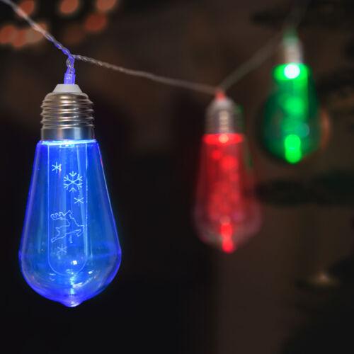 LED sveteľná reťaz žiarovky 10 LED farebná 2 x AA 1,9 metrov