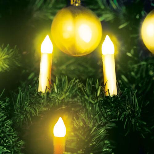 Vianočná LED sviečková reťaz teplá biela 10 2 x AA