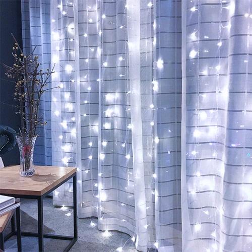 LED Záves 3x3m studený biely