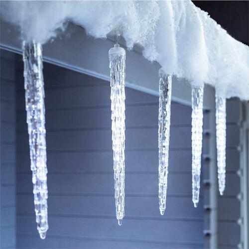 LED cencúle efekt topiaceho sa ľadu 50cm studené biele extra realistické