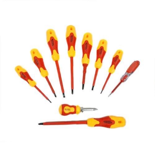 Sibate izolovaný elektrický skrutkovač s fázovou ceruzkou 10 ks