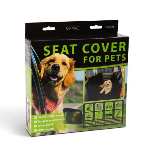 Ochranný poťah na sedadlo pre domáce zvieratá čierny 130 x 160 cm