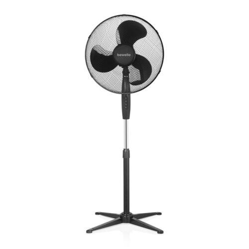 Stojanový ventilátor 38 cm priemer čierny