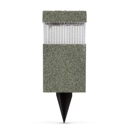 LED solárna lampa kamenný vzor plast