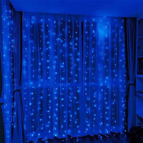 LED Záves 2x1,5m modrý