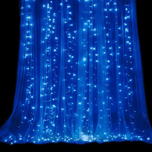 LED Záves 3x3m modrý